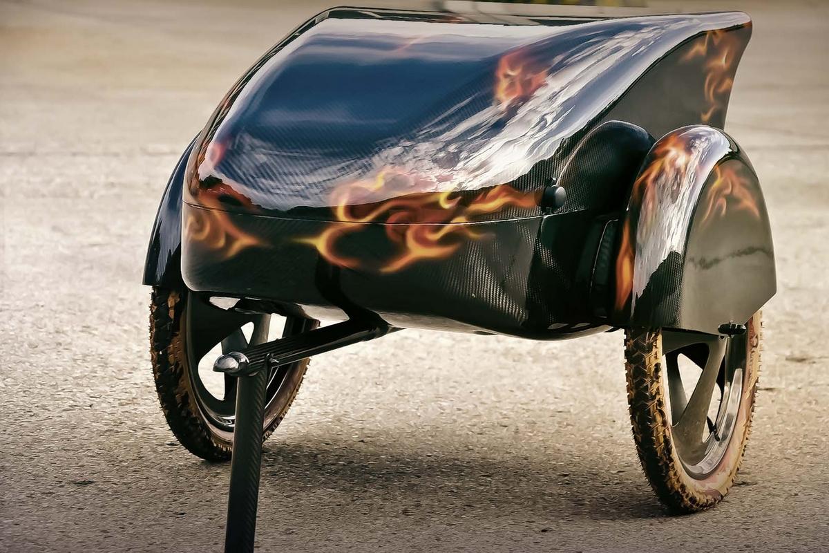 Carbon Fahrradanhänger Mit Carbon-Optik