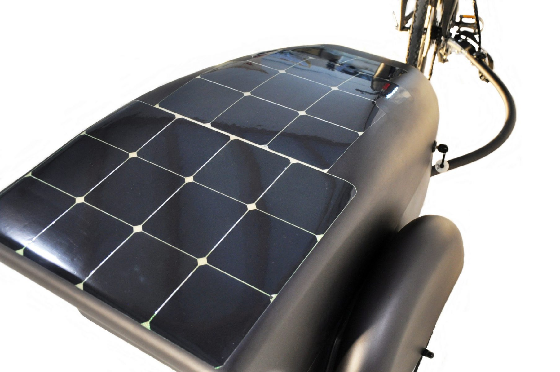 Carbon E-bicycle Trailer With Solar