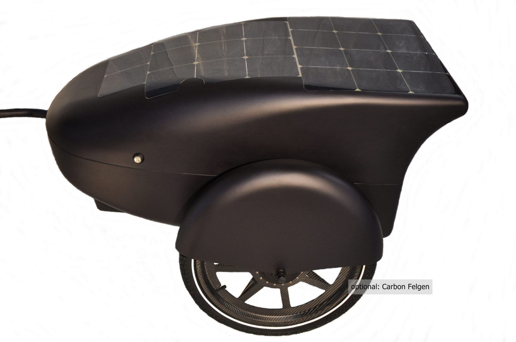 """Carbon E-bicycle trailer with solar """"V1ES"""""""